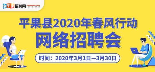 """平果县2020年""""春风行动""""网络招聘会"""
