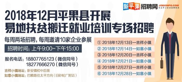 2018年12月平果县易地扶贫搬迁就业培训专场招聘会(21号场)